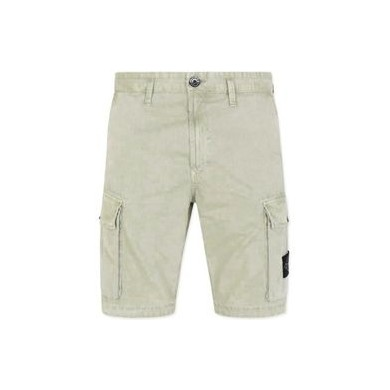 Stone Island L07WA Old Dye Treatment Bermuda Cargo Shorts Sage Green