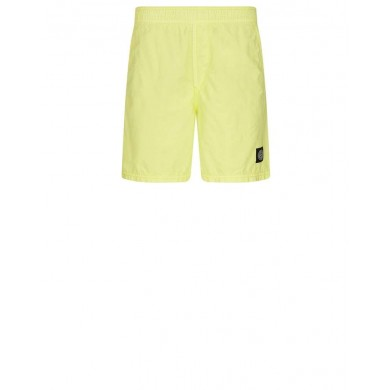 Stone Island B0946 Brushed Cotton Swimming Shorts Lemon