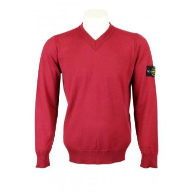 Stone Island 538C4 V-Neck Lightweight Wool Sweater V0014