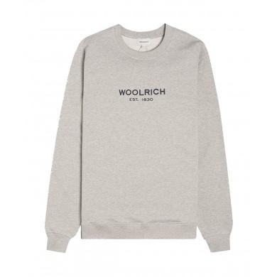 Woolrich Luxury Light Crew Neck Sweatshirt Grey Melange