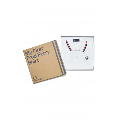 Fred Perry My First Fred Perry Shirt White, Red & Navy
