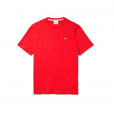 Lacoste Live Inverse Croc Cotton Tee Red