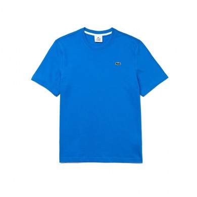 Lacoste Live Back Print Cotton Tee Blue & White