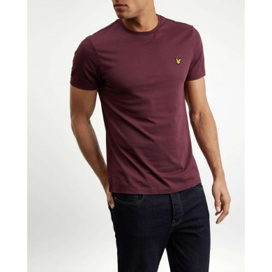 Lyle & Scott Crew Neck Tee Burgundy