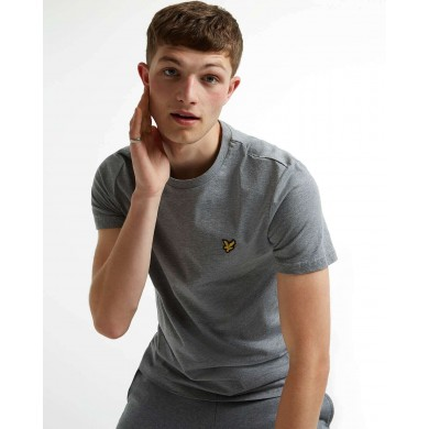 Lyle & Scott Crew Neck Tee Mid Grey Marl
