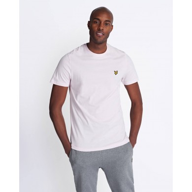 Lyle & Scott Crew Neck Tee Strawberry Cream