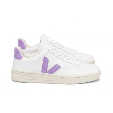 Veja V-12 Leather Sneaker White & Lavande