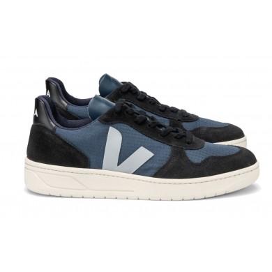 Veja V-10 Ripstop Sneaker Nautico Oxford Grey Black