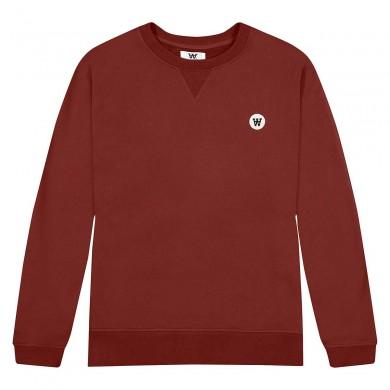 Wood Wood Tye Sweatshirt Dark Red
