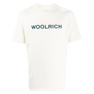 Woolrich Est. 1830 Logo Tee Feather White