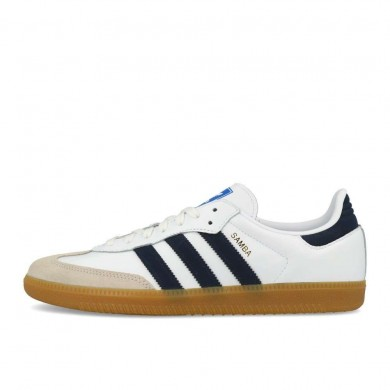 Adidas Samba OG White, Collegiate Navy & Blue