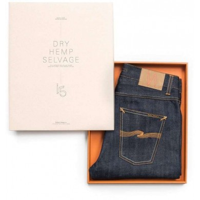 "Nudie Jeans Grim Tim Dry Hemp Selvage ""Indigo Bloodline"" L32"