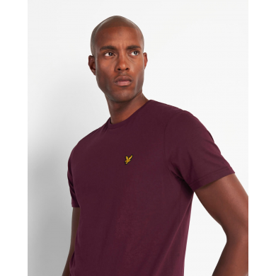 Lyle & Scott Crew Neck Burgundy