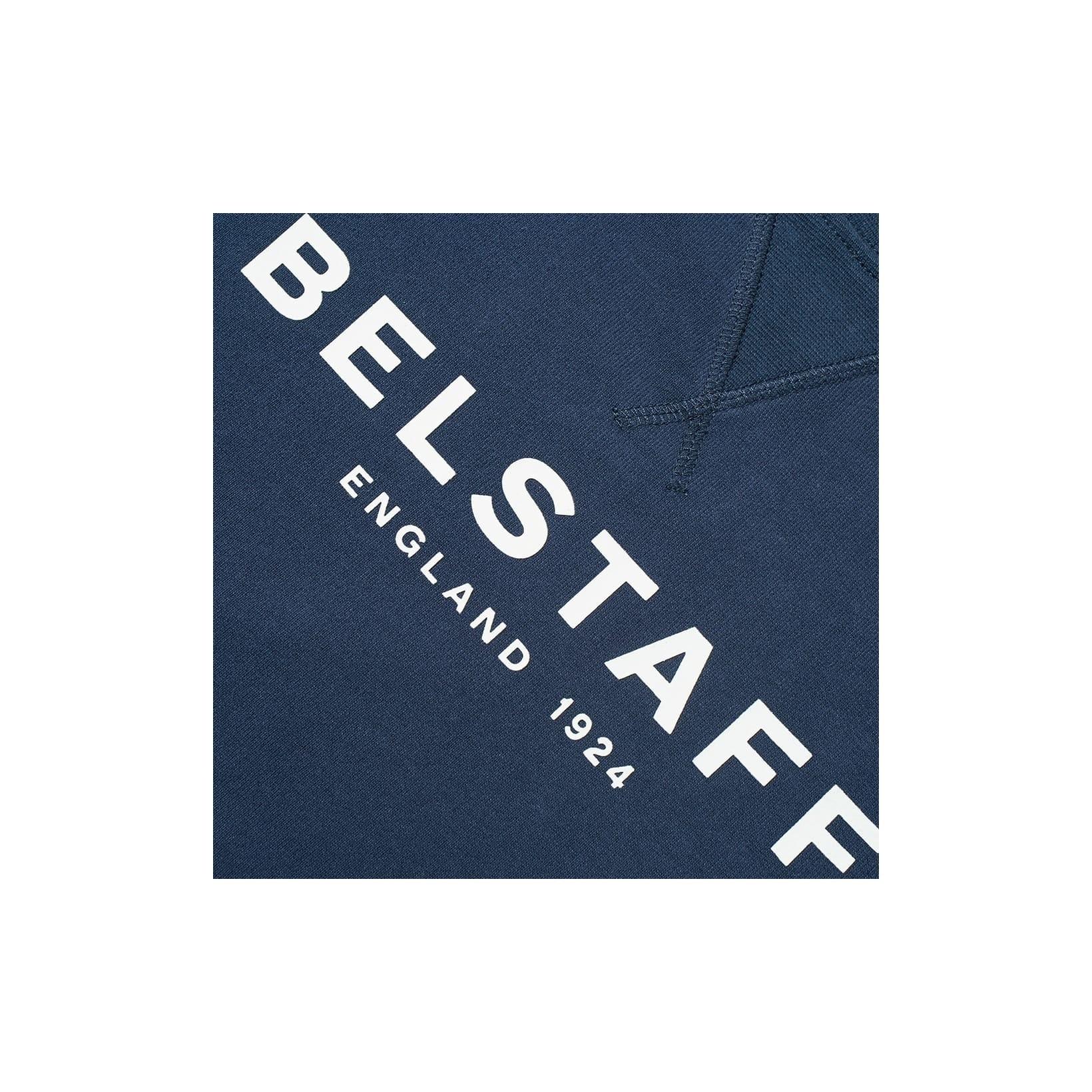 Prestigio Adecuado Descenso repentino  Belstaff 1924 Printed Logo Sweatshirt Navy