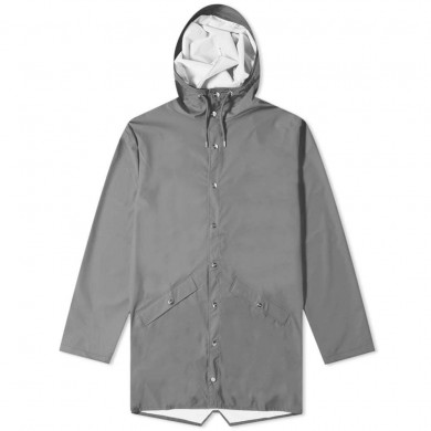Rains Long Jacket Charcoal