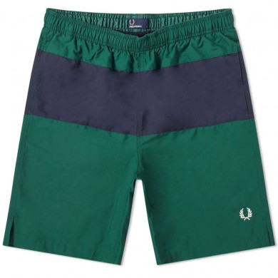 Fred Perry Block Panel Swin Short Ivy