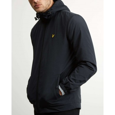 Lyle & Scott Microfleece Lined Zip Through Jacket True Black