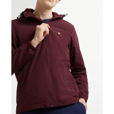 Lyle & Scott Microfleece Lined Zip Through Jacket Burgundy
