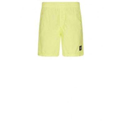 Stone Island B0946 Brushed Cotton Swimming Shorts Lemon