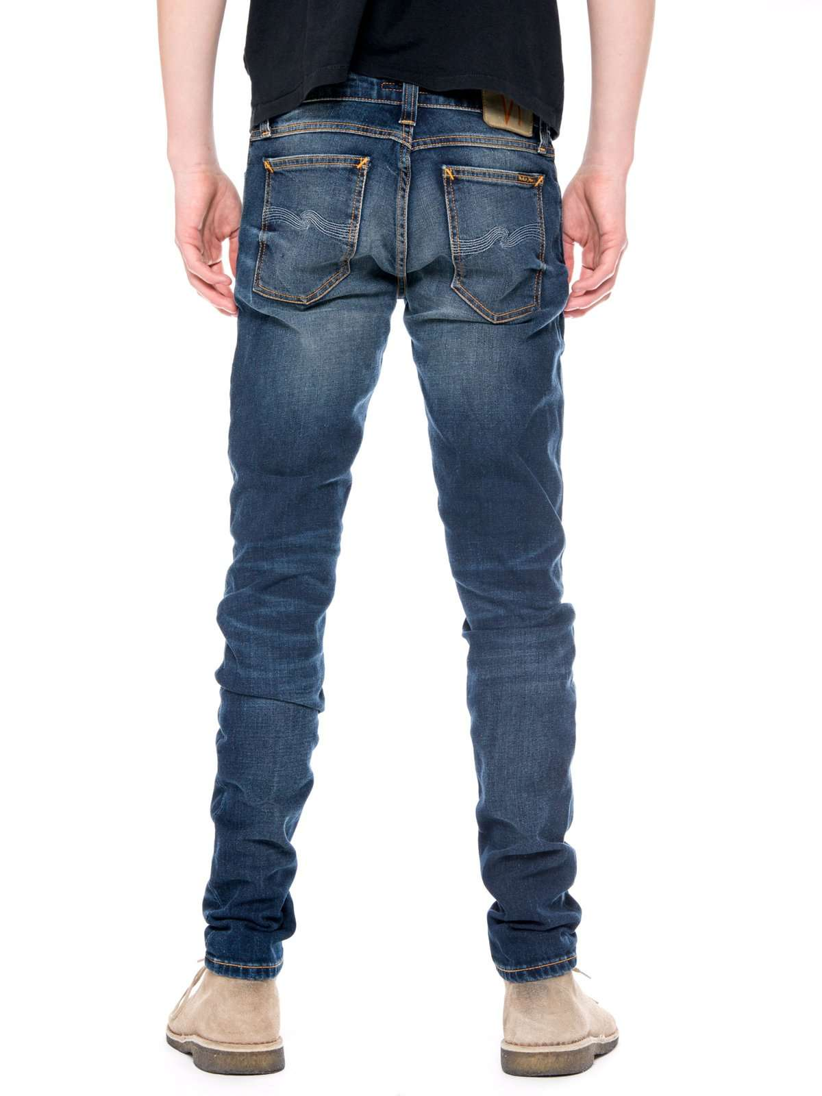 947220c45b80ab Details about Nudie Jeans Skinny Lin Dark Double Indigo L32